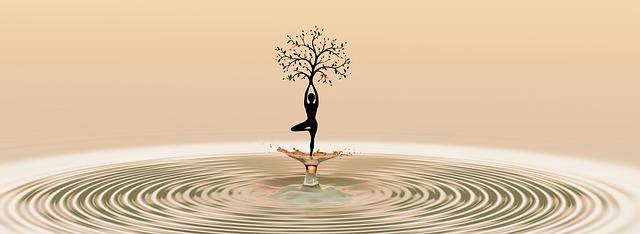 Yoga dancing with harmony