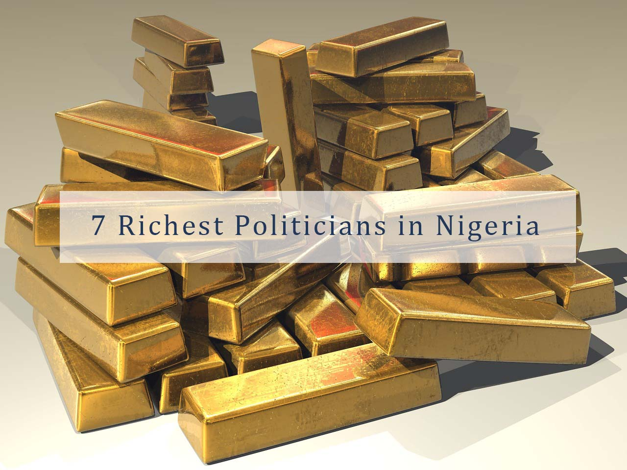 Gold bars for politicians in Nigeria