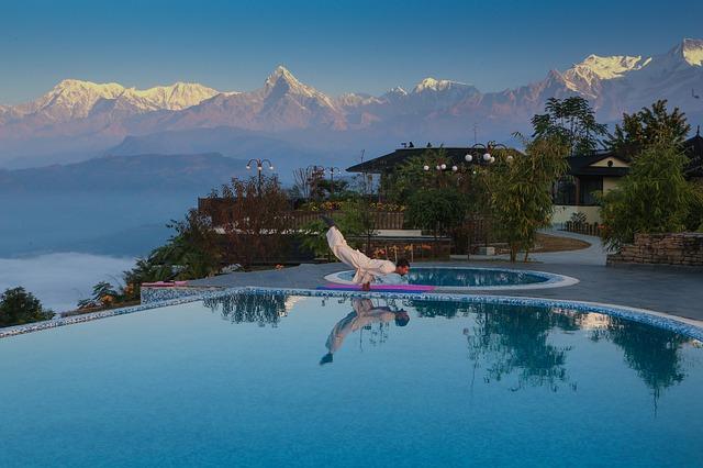 Morning exercise Nepal