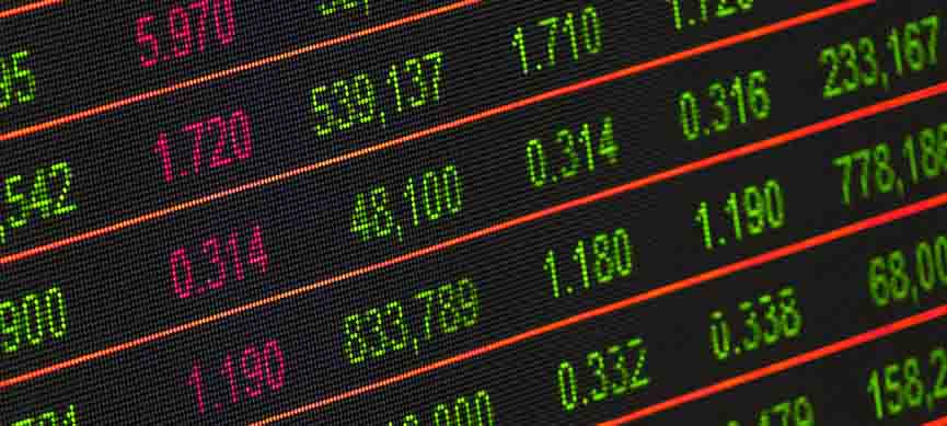 a screen of stock market numbers and financial data displayed for trading of nigeria