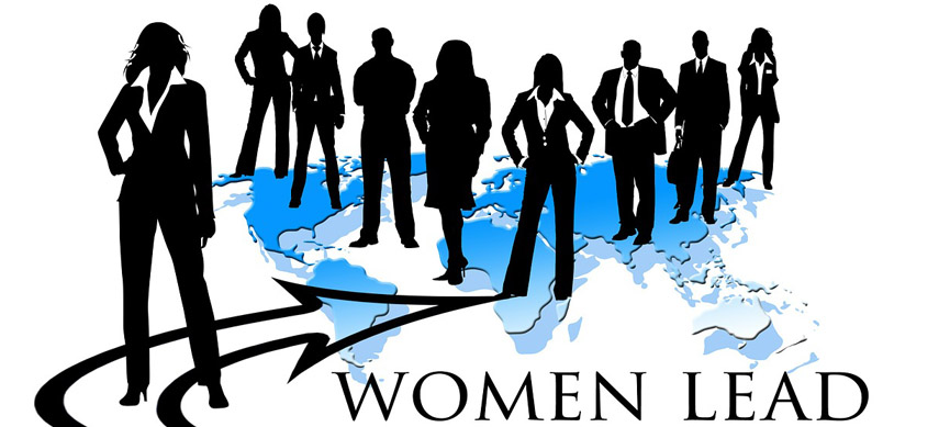 Minority Women Owned Business Cover Silhouettes Women Stand on Map of World