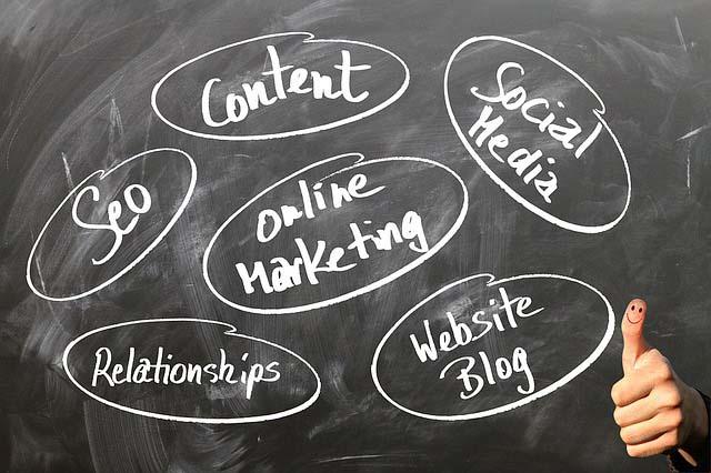 best online businesses in Nigeria blackboard with white words online marketing