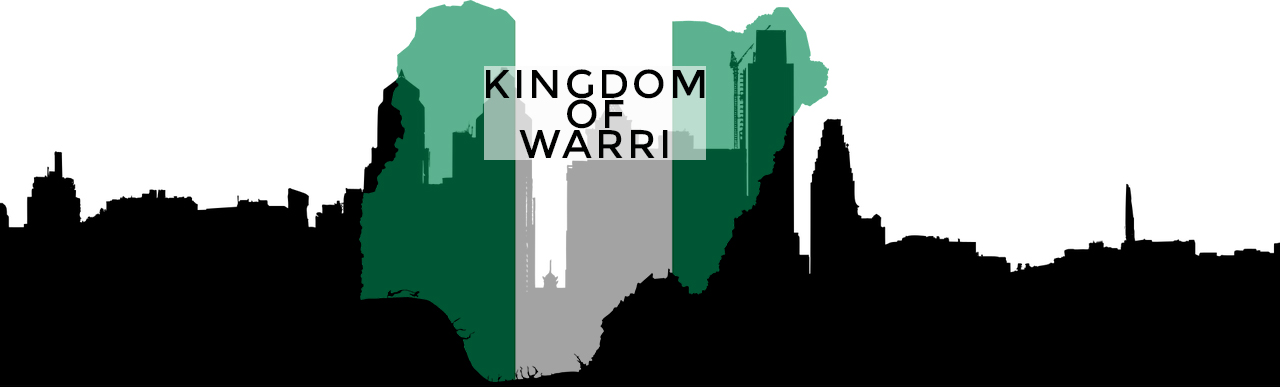 silhouette of building in the city of nigeria with the flag of green and white colour