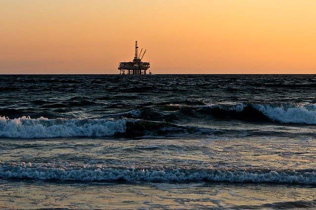 oil-rig-platfor-on-the-see-Ibeno-beach