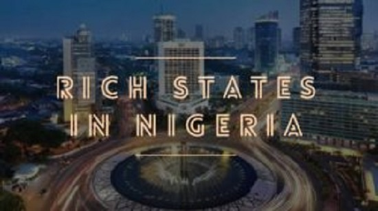 Building is lighting on at night in the richest States of Nigeria