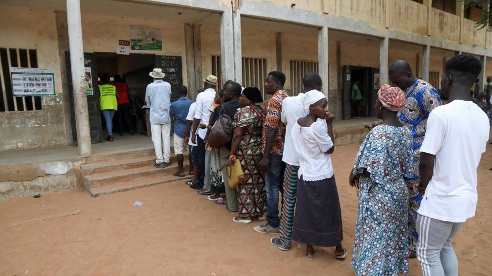 Citizens voting at a polling station in Togo's capital, Lome.