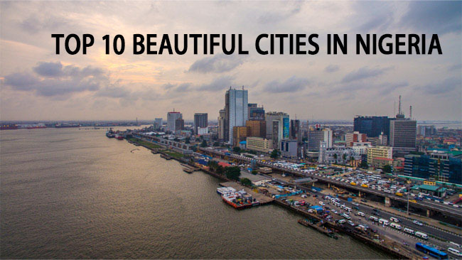 landscape of beautiful building across the sea in the city of Nigeria
