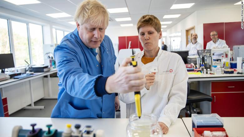 Boris Johnson Visit to Mologic Lab