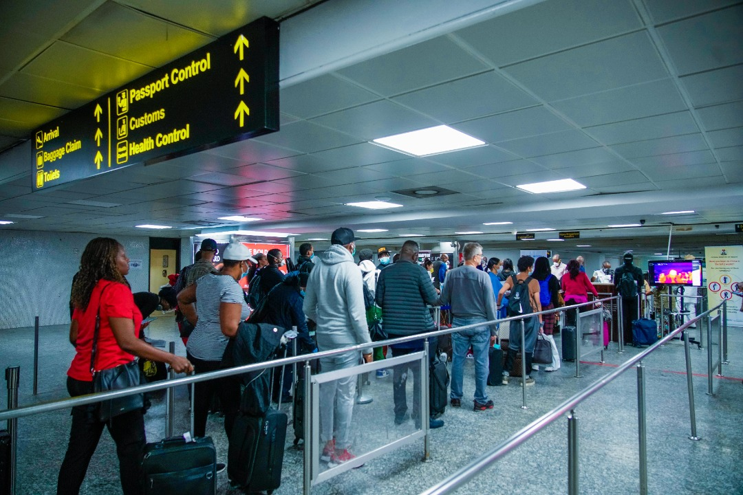 WHO and NCDC monitoring activities at Lagos Murtala Muhammed Airport