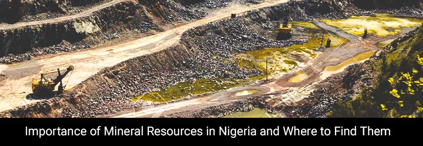 Place of mineral resources with mining machine in Nigeria