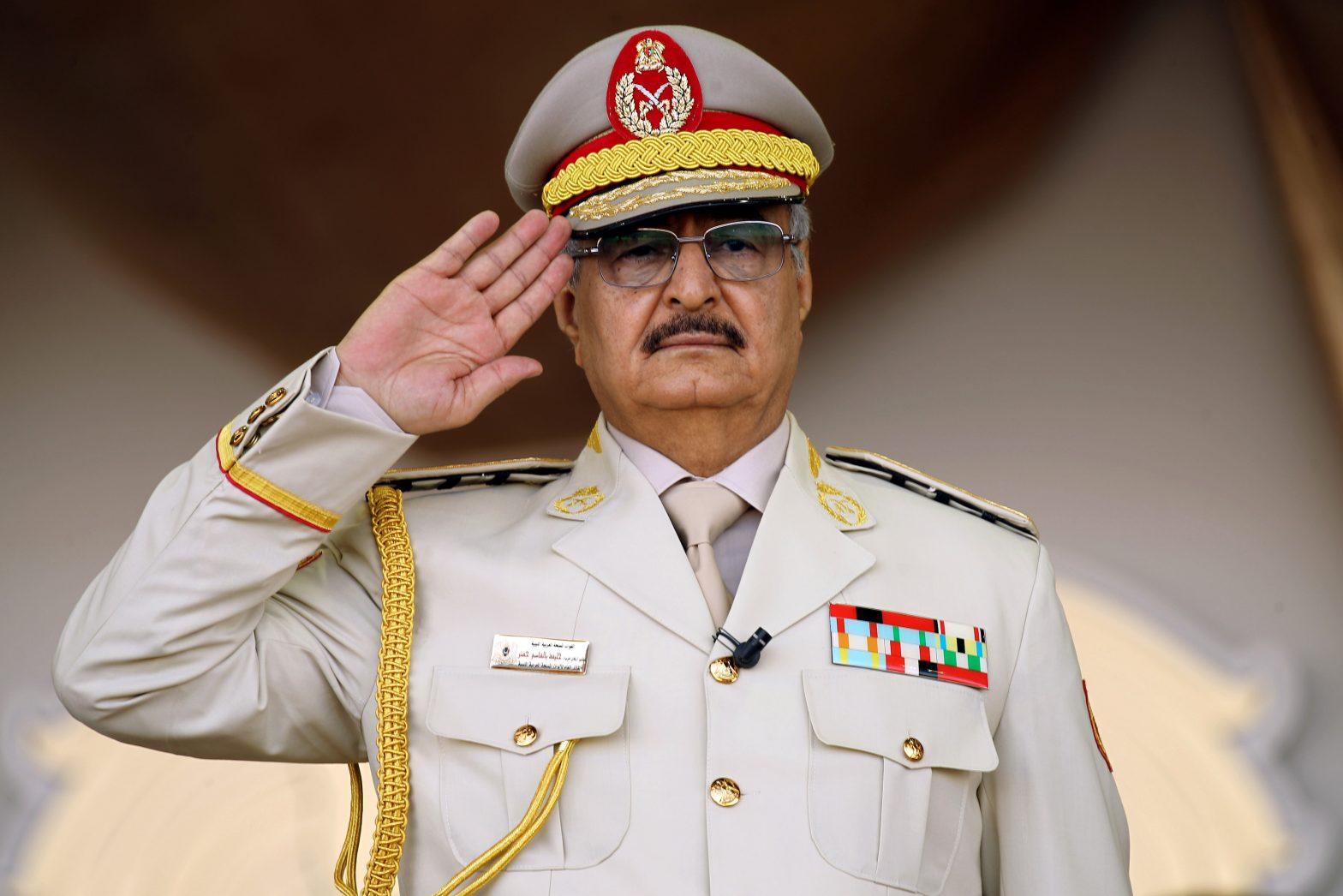 Khalifa Haftar leader of the Libya National Army