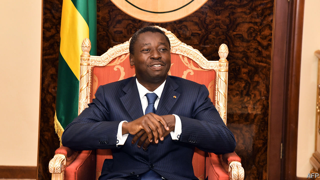 Gnassingbe sworn in as president for a fourth term