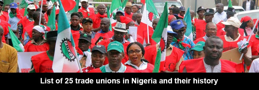 ist of 25 trade unions in Nigeria and their history cover