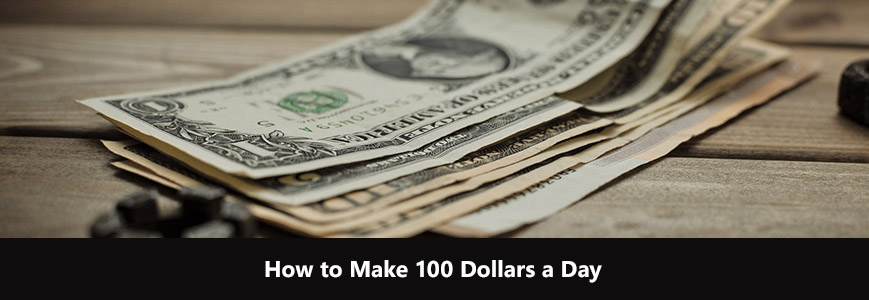A bunch of 100 dollars that you can earn per day