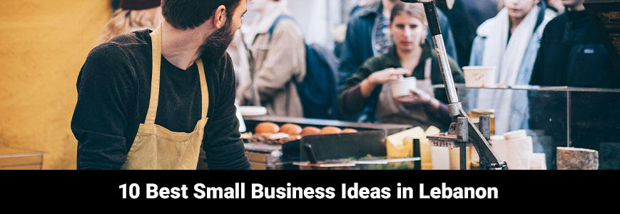 Barista is speaking with a customer about the best small business ideas in Lebanon
