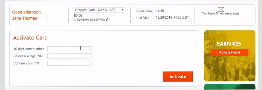 activate payoneer card menu 2