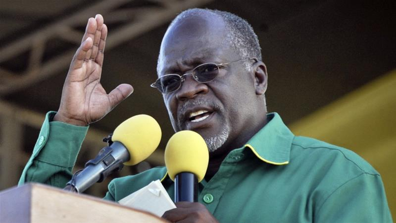 Magufuli during an elections campaign