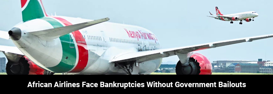 Arican airlines face bankrupcies without government bailouts