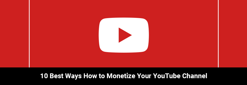 Youtube logo calls us to monetize youtube channel
