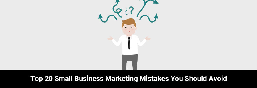 The illustration with a confusing man is trying to avoid mistakes in his small business