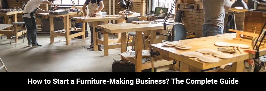 Three persons are taking courses to know how to start a furniture making business
