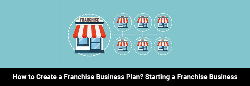 Some shop logo on a blue background indicating a franchise business plan
