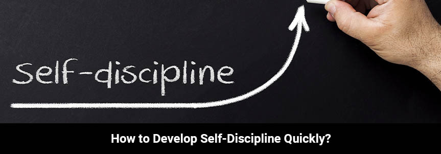 """self discipline"" is written on a black board"