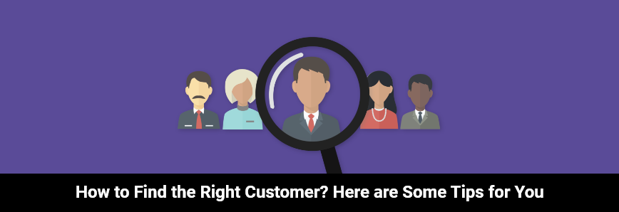 searching icon how to find the right customer