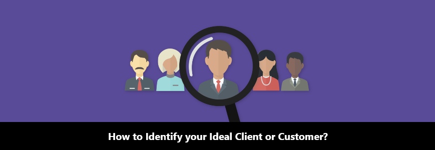 searching icon to identity your client or customer