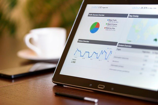 A tablet with analyze data for relationship marketing