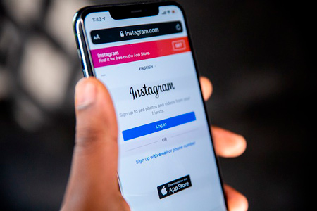 Instagram app on iphone, where you should log in to your instagram account to do your business
