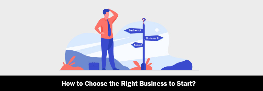 an illustration man thinking how to choose the right business to start