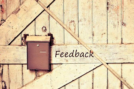 """There is a postbox with the inscription """"feedback"""""""