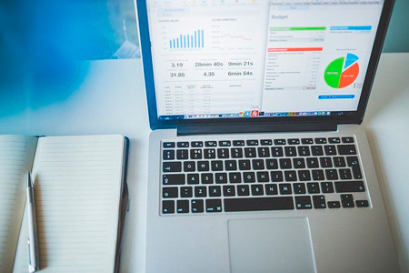 Analytics in a laptop to identify the importance of social media for your successful business