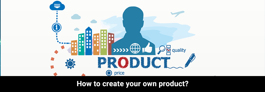 infographic building icon on creating your own product