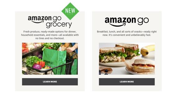 "screen of the ""Amazon go"" website"