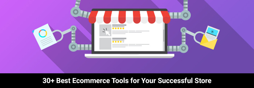 best ecommerce tools icon design examples on a purple background