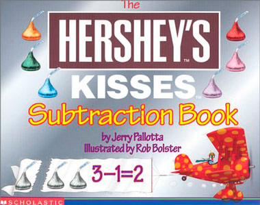 Hershey's Kisses Subtraction book as a product placement example.