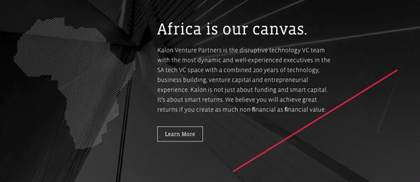 a screenshoot of Kalon venture partners' website
