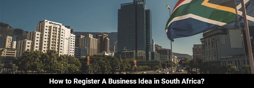 the view of South Africa with building and places to register your business idea