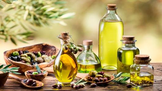 Olive oil in different jars