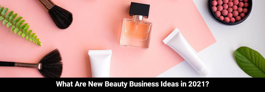 displaying cosmetic product on a white and pink table for beauty business ideas purpose