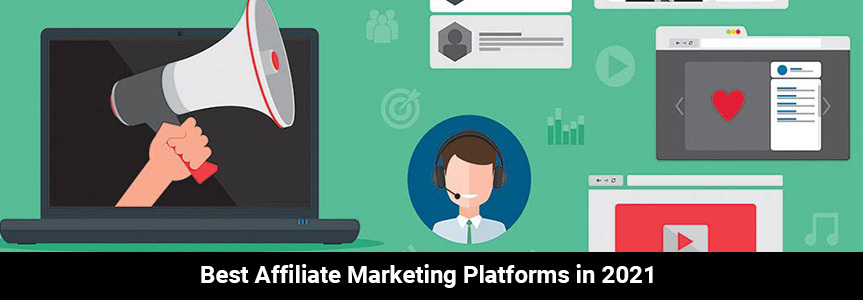 icon online human on affiliate marketing platforms with several task open on a green background